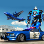 US Police Robot Car Transporter Police Plane Game 1.2 APK (MOD, Unlimited Money)