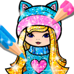 Girls Coloring Book for Kids Glitter 1.1.6 APK (MOD, Unlimited Money)