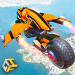 Real Flying Robot Bike : Robot Shooting Games 2.3 APK (MOD, Unlimited Money)