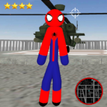 Amazing Spider-StickMan Rope Hero Gangstar Crime 2.1 APK (MOD, Unlimited Money)