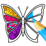 Glitter Butterfly Coloring – Learn Colors 1.1 APK (MOD, Unlimited Money)
