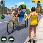 Bicycle Tuk Tuk Auto Rickshaw : New Driving Games 1.6 APK (MOD, Unlimited Money)