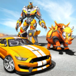 Rhino Robot Car transforming games – City battle 1.5 APK (MOD, Unlimited Money)