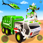 Flying Garbage Truck Robot Transform: Robot Games 28 APK (MOD, Unlimited Money)