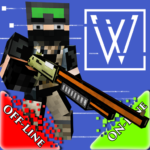 War Cube Online Offline Mobile Zombie Sniper Shoot 0.8 APK (MOD, Unlimited Money)