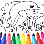 Dolphin and fish coloring book 16.3.2 APK (MOD, Unlimited Money)