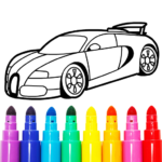Learn Coloring & Drawing Car Games for Kids 9.0 APK (MOD, Unlimited Money)